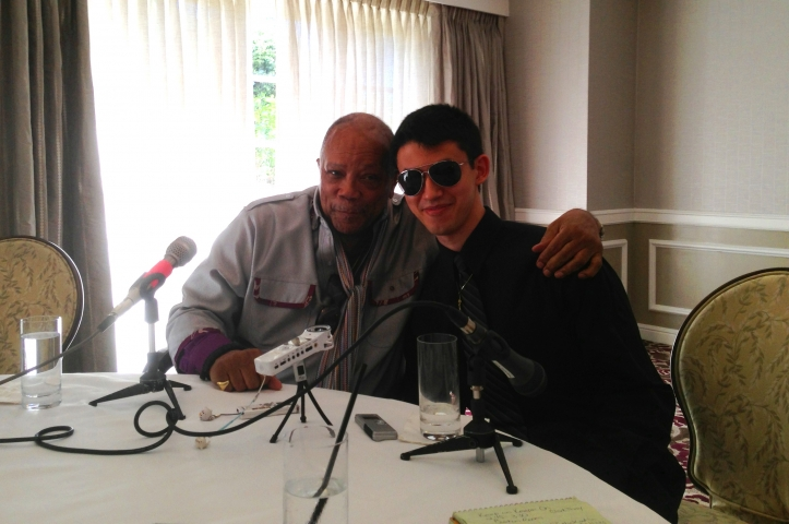 Quincy Jones and Justin Kauflin at the Four Seasons Los Angeles, September 17, 2014